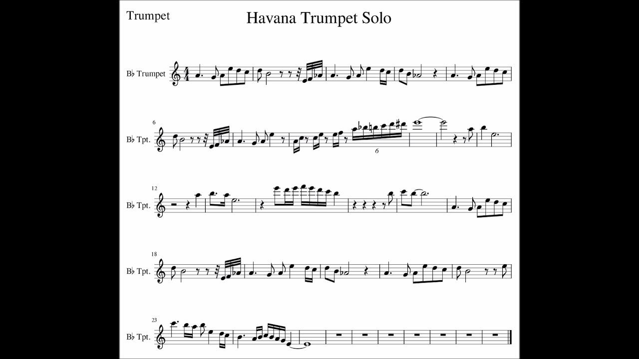 Havana Trumpet Solo Youtube