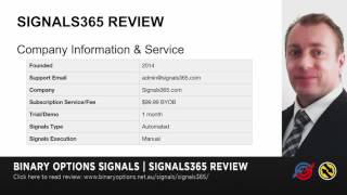 Signals365 Binary Options Signals - Up to 70% Win-Rate!