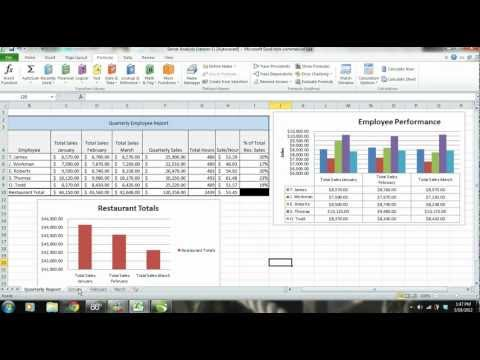 MS Excel 2010 Tutorial: Employee Sales Performance Report, Analysis & Evaluation - PART 1