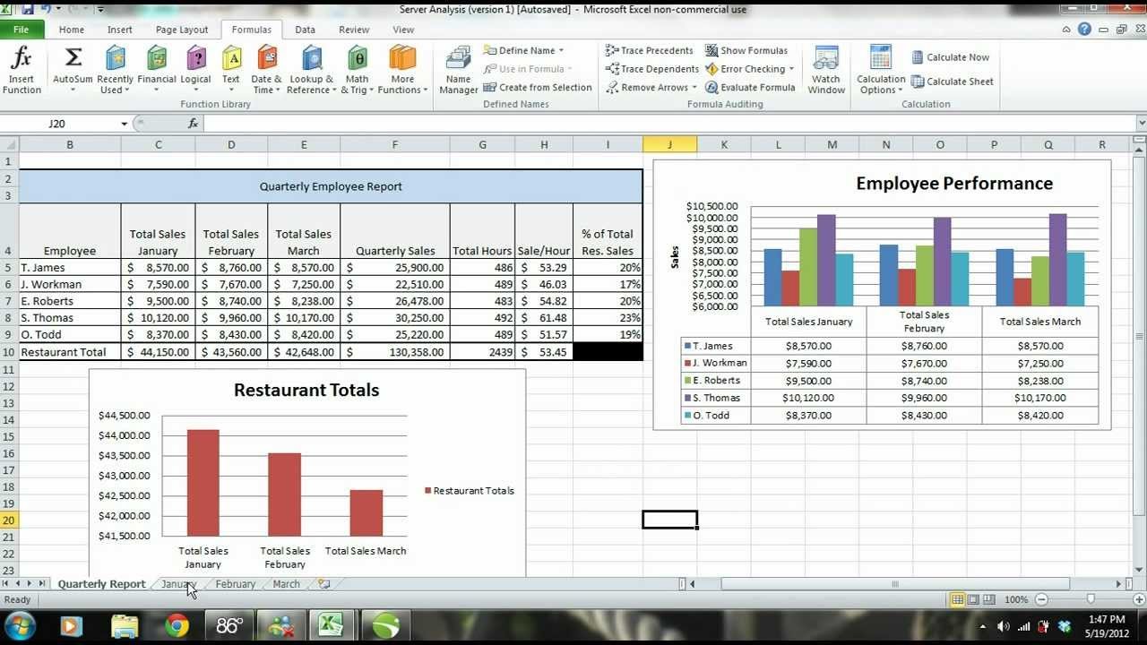 MS Excel 2010 Tutorial: Employee Sales Performance Report, Analysis U0026  Evaluation   PART 1   YouTube