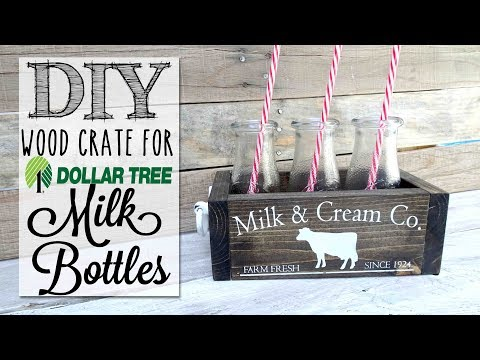 DIY Dollar Tree Milk Bottle Crate | Collab with MommaFromScratch