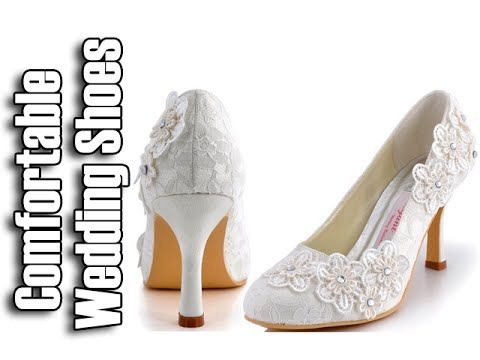 Comfortable Wedding Shoes - Wedding Shoes For Bride - YouTube