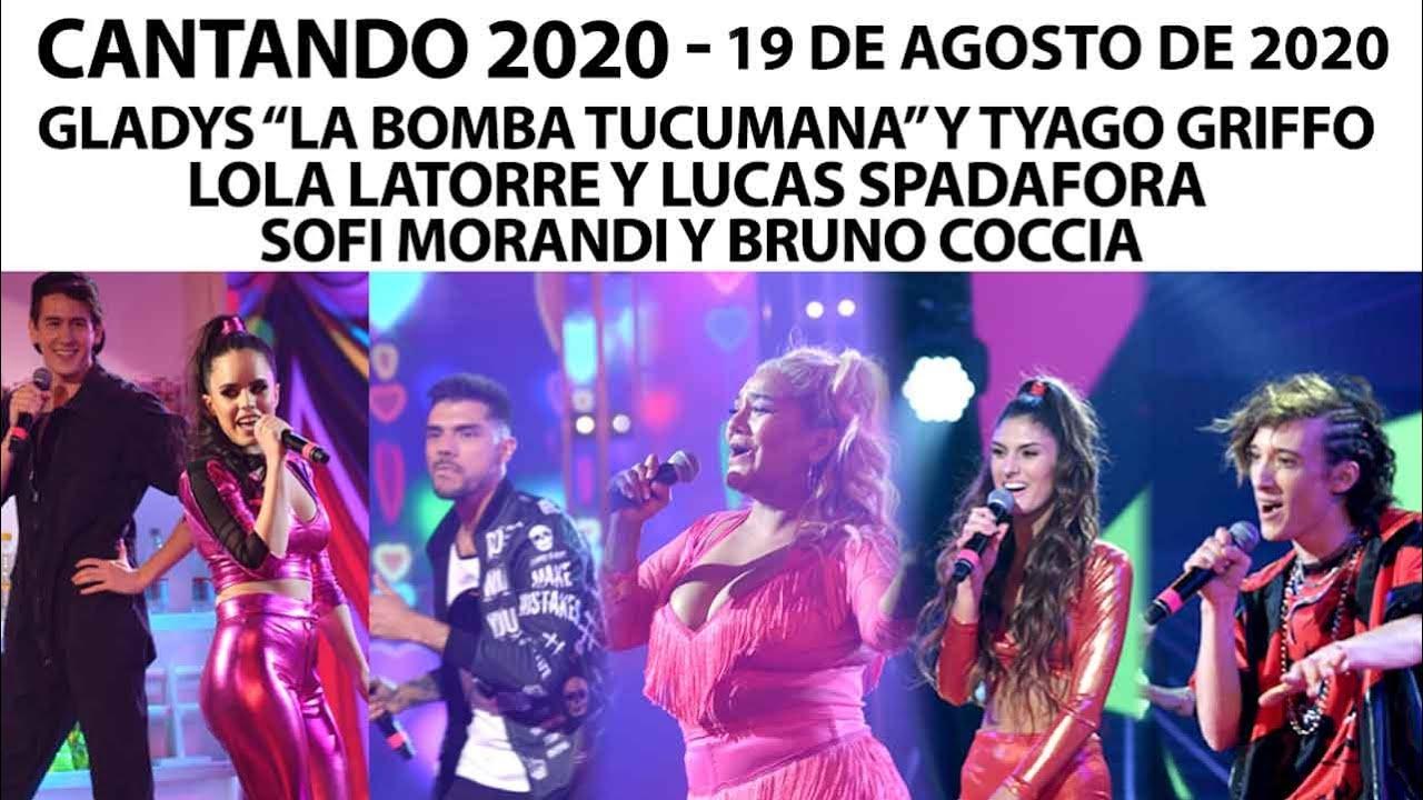 Cantando 2020 Programa 19 08 20 Gladys Tyago Griffo Lola Latorre Lucas Spadafora Sofi Morandi Watsupamericas The Americas Latest News Entertainment Platform