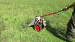 Покос травы Сегментальной мотокосой КММ-1.0
