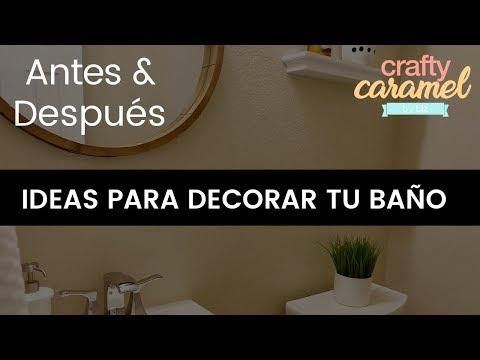 IDEAS PARA DECORAR TU BAÑO PEQUEÑO / Transformación total con antes y después / Bathroom makeover