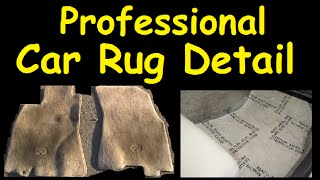 Car Rug Detailing How To Floor Mat Interior & Motor Cleaning
