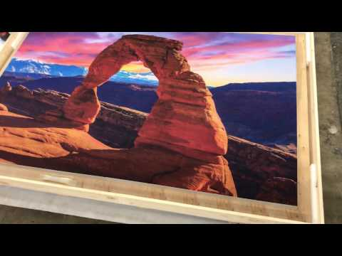 PROLAB Digital Wall Frame Fabric crated Arches National Park