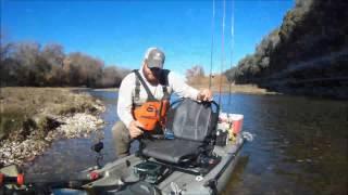 Brazos River Kayak Fishing!.....WS Air Pro Max Seat