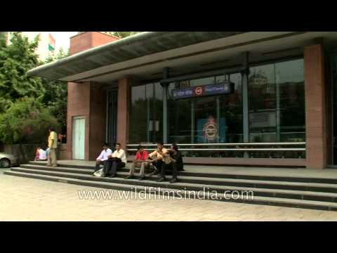 Patel Chowk metro station on yellow line of Delhi metro
