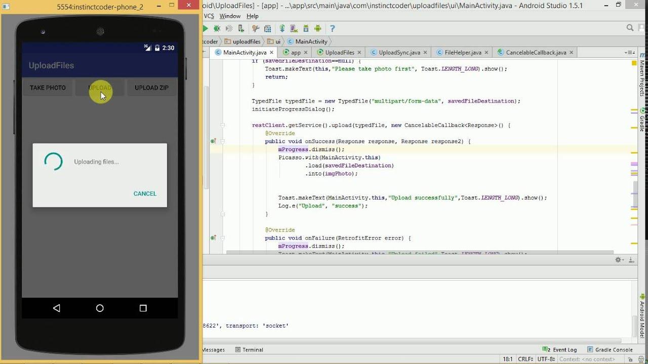 Android Studio Upload Any Files to ASP Net Web API