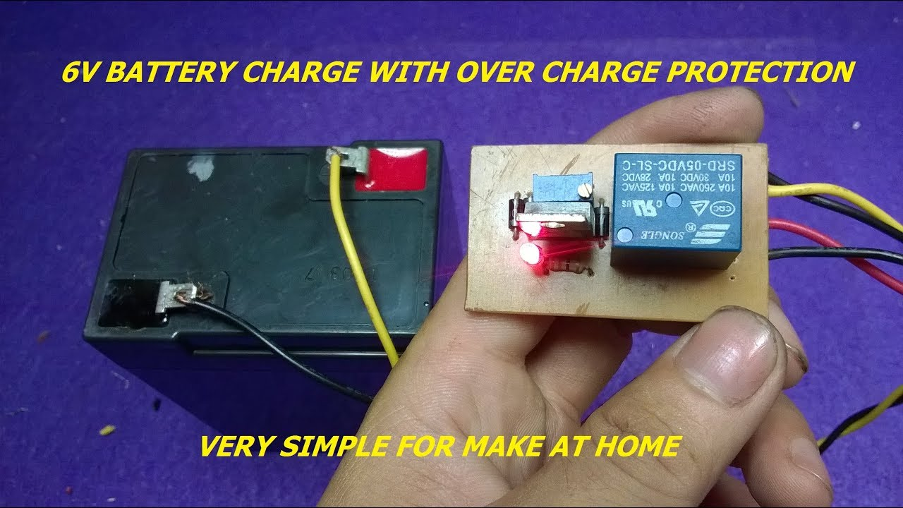 medium resolution of 6v battery charge with over charge protection very easy