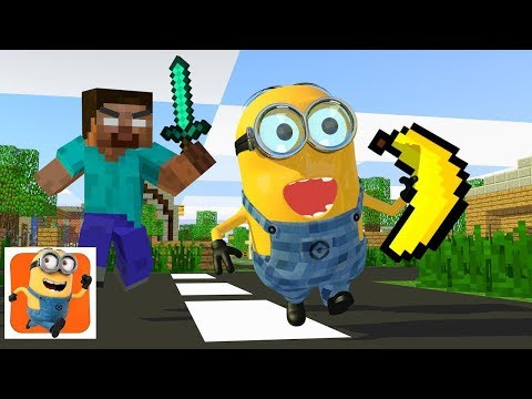 Monster School : Minion Rush Challenge -  Minecraft Animation