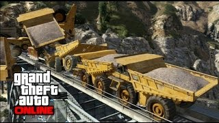 GTA 5 Online Train Vs 10 Dump Trucks Omenz321