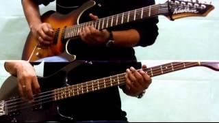 Iron Maiden - The Trooper (Guitar + Bass Split Screen cover)