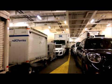 Rough ride on BC Ferries - Vehicles bouncing on deck