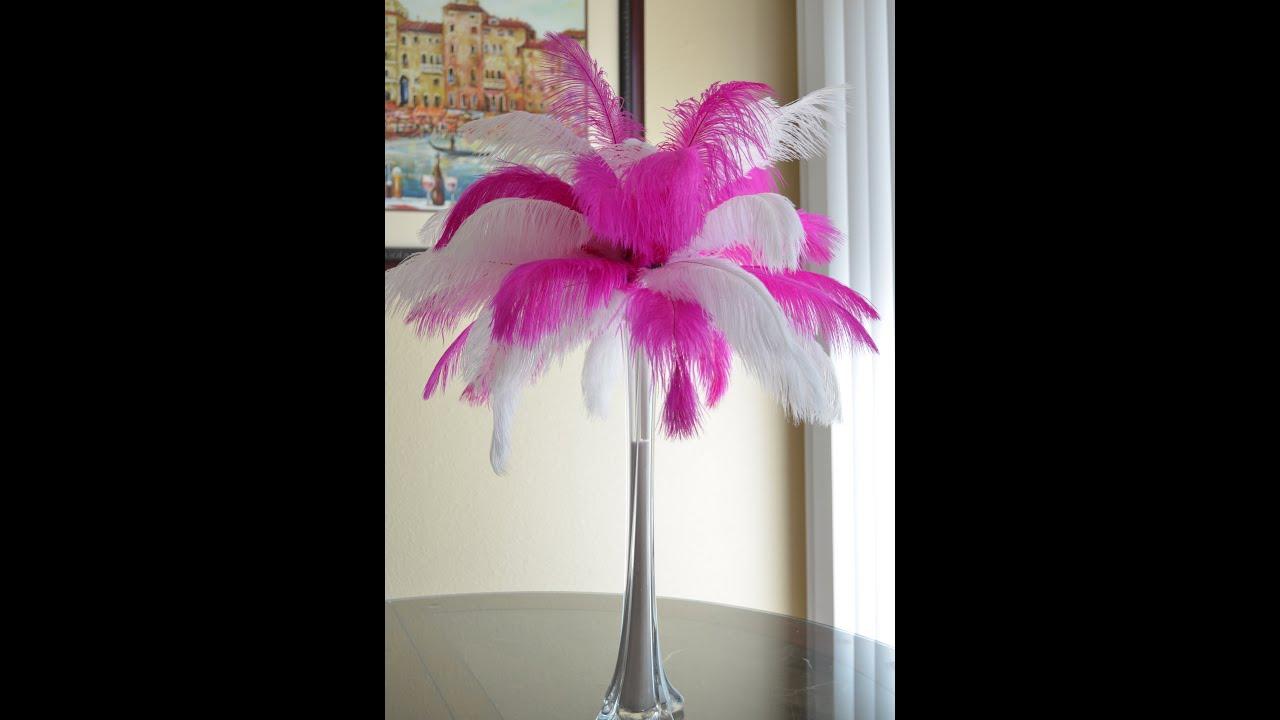 Centro de mesa con plumas de avestruz ostrich feathers - Centros d mesa ...
