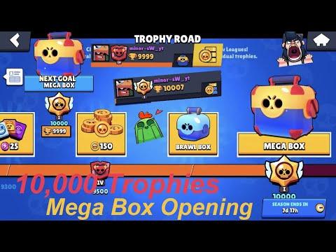 Mega Box Opening Reaching 10000 Trophies: *New* Brawl Stars: FreeToPlay (2019)