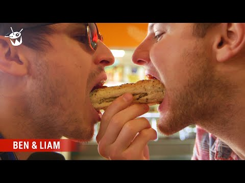 Ben and Liam search for the best sausage roll