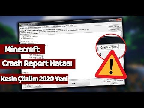 Minecraft (Crash Report) Hatası Kesin Çözüm 2020 Yeni