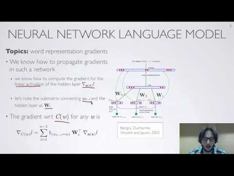 Neural networks [10.6] : Natural language processing - neural network language model