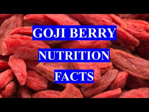 GOJI BERRIES HEALTH BENEFITS AND NUTRITION FACTS