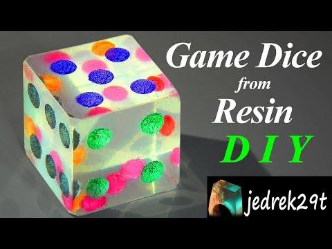 DIY. Game Dice from Resin 🎲 /Kostka, Kość do Gry z Żywicy