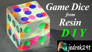 DIY. Game Dice from Resin/Kostka, Kość do Gry z Żywicy