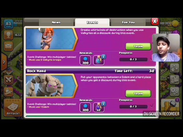 How complete event  Rock hard and Whirl power in COC