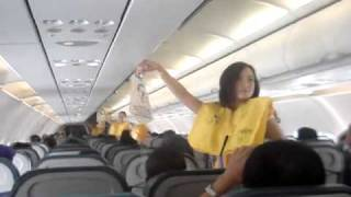 Pre Flight Safety Briefing Cebu Pacific.flv