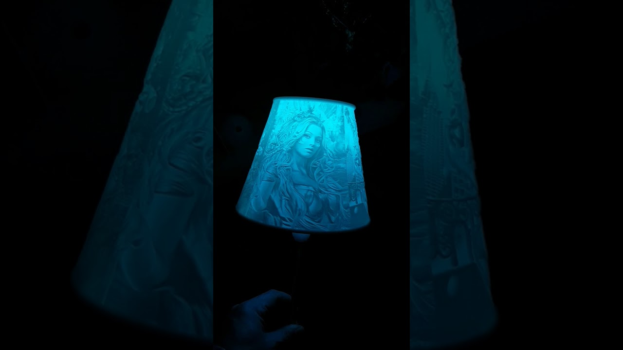 Lithophaner Lampenschirm Lampshade Gothic Style sexy 3D Druck Print