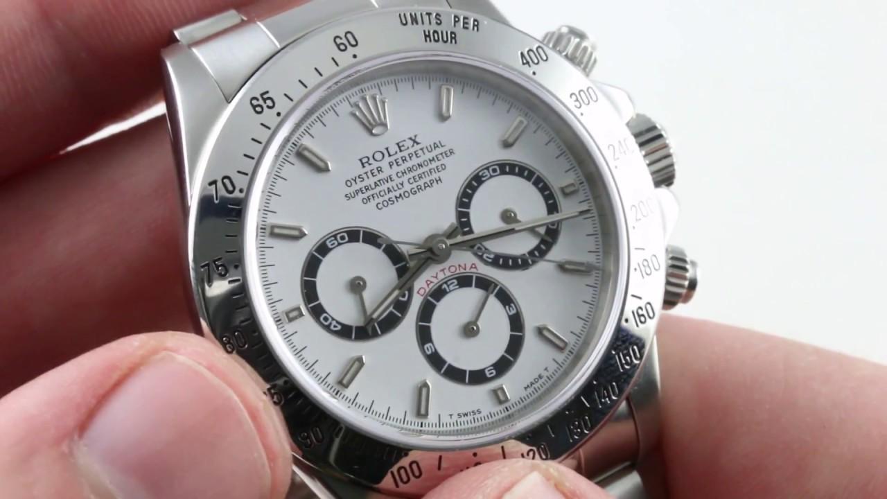 24786830fc3 Rolex Cosmograph Daytona (ZENITH EL PRIMERO) 16520 Luxury Watch Reviews