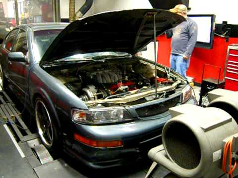 1995 Supercharged Nissan Maxima Vq35 Swap Dyno Youtube