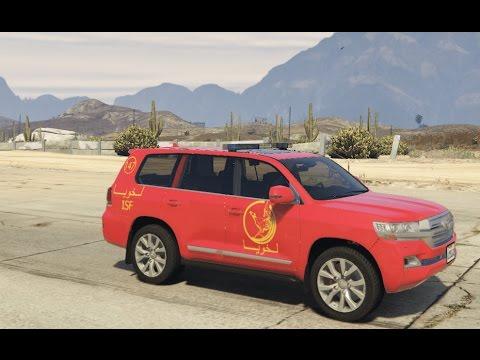 Isf Qatar Police Lekhwiya Land Cruiser Mod Gta V مود شرطة لخويا قطر