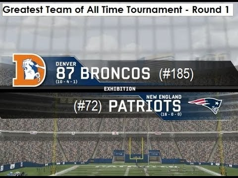 1987 Denver Broncos vs. 2007 New England Patriots
