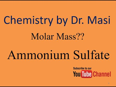 What Is The Molar Mass Of Ammonium Sulfate? Molecular Weight - Chemicals