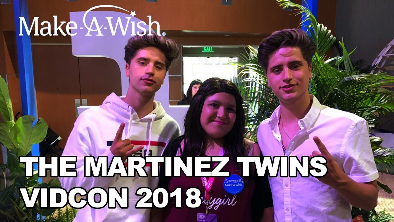 The Martinez Twins with Make-A-Wish at VidCon 2018! | Make-A-Wish®