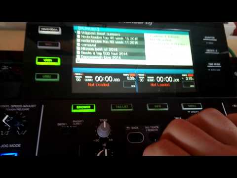 pioneer xdj rx problem with songs