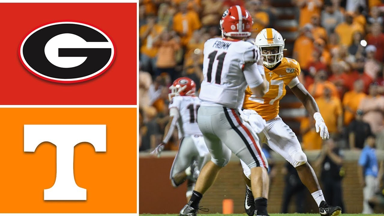 3 Georgia Vs Tennessee Week 6 College Football Highlights 2019 Youtube