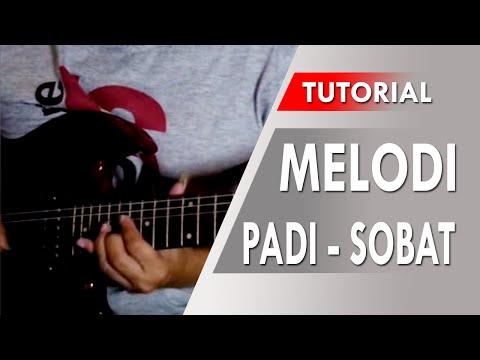 belajar gitar melodi padi - sobat [slow tempo]