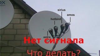 Нет сигнала на тюнере, ресивере. Простой ремонт, настройка спутниковой антенны.