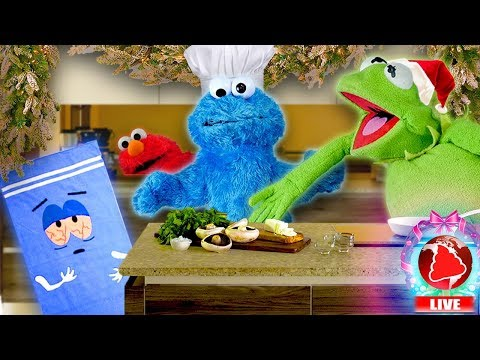 Kermit's Kitchen - CHRISTMAS EDITION! Ft Cookie Monster (Hosted by BSN Network)