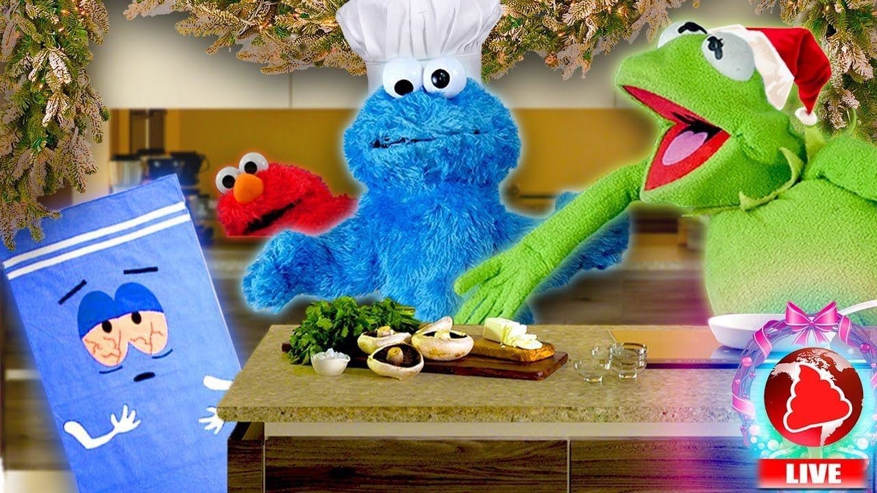 Kermit\'s Kitchen - CHRISTMAS EDITION! Ft Cookie Monster (Hosted by ...