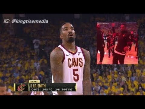 JR Smith Gets Standing Ovation & MVP Chants From Warriors Fans During Cavs Game 2 Finals Loss