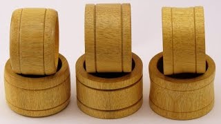 Wood Turning Napkin Rings