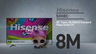 Hisense 50H8C H8 series 4K smart TV // Full Specs Review  #Hisense