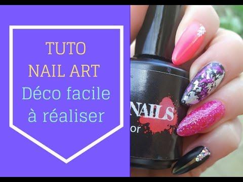 Tuto nail art d co ongle facile pour d butantes avec strass swarovsky youtube - Tuto nail art debutant ...