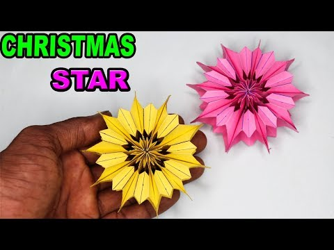 ⭐How To Make a Christmas Star diy ⭐- Paper Snowflake   Right Side