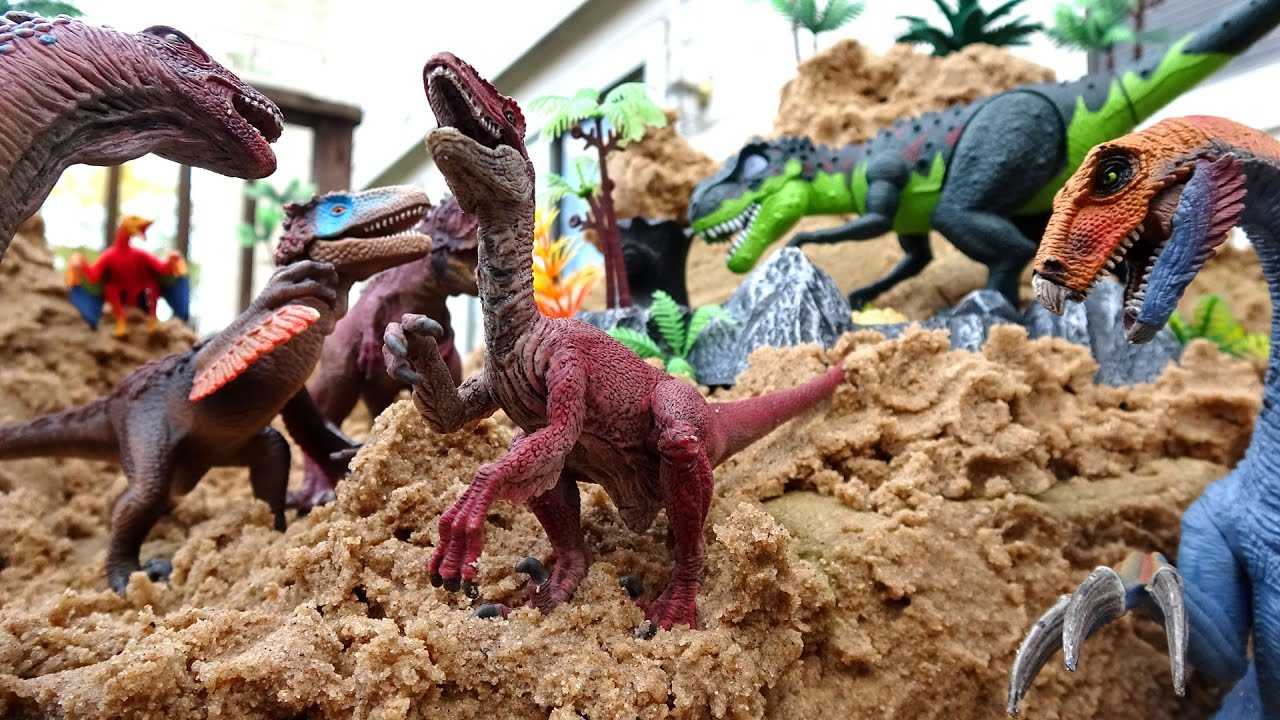 Dinosaur Island Sandbox Fun Part 2! Learn Dinosaurs and Prehistoric Animals  Names