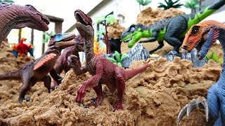 Dinosaur Island Sandbox Fun Part 2! Learn Dinosaurs and Prehistoric Animals Names
