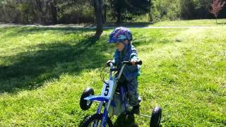Ian first time riding a dirt bike